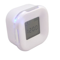4 in1 Function Change LED Digital Alarm 4 Side Clock Calendar/Temperature/Timer  Z0113 Free Shipping