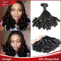 Free DHL Unprocessed Funmi Human Hair Extension 3 Bundles Lot Virgin Peruvian Hair Spring Curls Double Drawn Funmi Bouncy Curls
