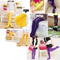 Kids Baby Girls Velvet Candy Color Leggings Pantyhose Underpants