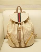 Brand Designer Printing Women/men Backpack Canvas Hiking Travel Bag Drawstring & Hook School Bag Zipper Mochila New 2014 B598