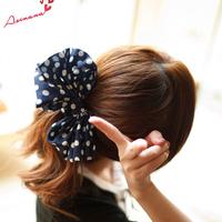 New 2014 fashion woman hair band headband charming dot big bowknot hair band hair clip hair jewelry accessories