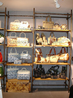 Bags display rack store fixture wooden MDF metal wall mounted  high quality China factory