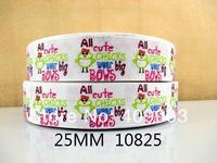 10Y10825 kerryribbon freeshipping 1'' cute chicks pattern printed Grosgrain ribbon diy packing headwear garment accessoires