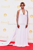 2014 emmy Award Celebrity Dresses White evening dresses runway chiffon uinique design prom dresses charming vestidos WC18