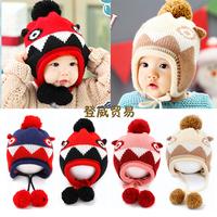 HT-1422 free shipping baby girls baby boys winter hats ear muff hats beaine caps children's accessories kids bonnet