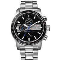Watches Men 2014 New Freeshipping Alarm Hot Sale Watch Fashion Casual Stainless Steel Men Calendar Waterproof Wristwatch Relogio