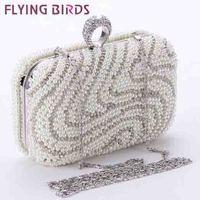 FLYING BIRDS! free shipping Women bags Beads women messenger bags evening bag clutch wallet famous brand purse LS3765c