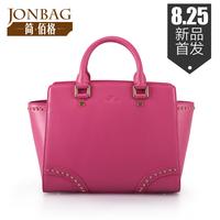 Bolsas Hot Sale Special Offer Freeshipping Women Handbag Bags 2014 Rivet Cowhide Women's Handbag Big Bag Ol Outfit Small Wings
