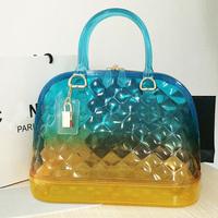 FURLY Brand Gradient Quilted Jelly Bag for Women Candy Handbag Fashion Women Shoulder Bag Beach Women Messenger Bag Wholesale