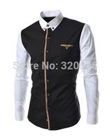 New 2014 Autumn And Winter Men's Shirt Fashion Urban Casual Slim Men's Shirts Free Shipping Promotions Black / Gray