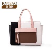 Bolsas New Rushed Bolsa Women Handbags 2014 Bags Portable Ol Outfit Brief Color Block Handbag Cross-body Wings Women's Cowhide
