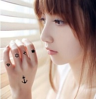 Free shipping Tattoo stickers waterproof tattoo temporary tattoo set 9pcs