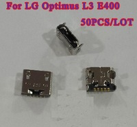 50pcs/lot, Original new USB Charging Charger Port for LG Optimus L3 E400 Dock Connector,HK Free Shipping