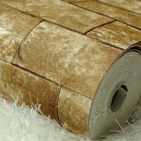Vintage 3D brick wall paper rolls, Stone wallpaper PVC, Classic wallpaper for living room