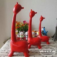 For za kka nordic wood piece set animal decoration crafts gift