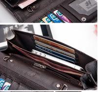 European and American cowhide leather clutch purse, wallets  wallet  carteira  women wallets  carteira feminina