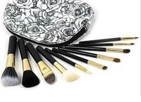 Hot Selling 10 pcs Cosmetic Make Up  Blush  Goat Hair Makeup Brushes High Quality Make up Brushes