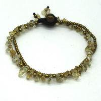 2014 Fashion Women Gift Charm Bracelets & Bangles Plated Chain And Natural Stone Bracelet Jewelry Free Shipping