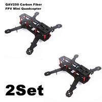 2PCS/Lot Blackout QAV250 Carbon Fiber Mini 250 FPV Quadcopter Frame(Unassembled)