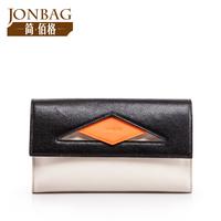 Bolsa Promotion Limited Bolsas Dinner Day Clutch Bag Color Block 2014 Women's Cowhide Handbag One Shoulder Cross-body Envelope