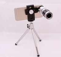 Universal 12X Telephoto zoom LensTripod Telescope Camera For Mobile Cell Smart Phone