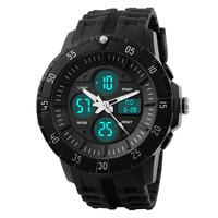 SKmei Unisex Casual Sports Watches 50M Waterproof Fashion LED Digital Quartz Watch Multifunctional Dress Wristwatches
