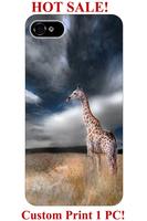 unique designer giraffe standing on yellow glassland animal pattern 4 4S 5 5S 5C 6 6S cover for iphone 4 case giraffe print