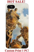 designer cute giraffe group blue sky animal design pattern print 5 5S 5C 4 4S  cover for iphone 4S case giraffe print