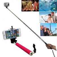 Free shipping Aluminium Alloy Extendable Handheld Tripod Monopods Mobilephone and Camer Handheld Monopod Self Photo