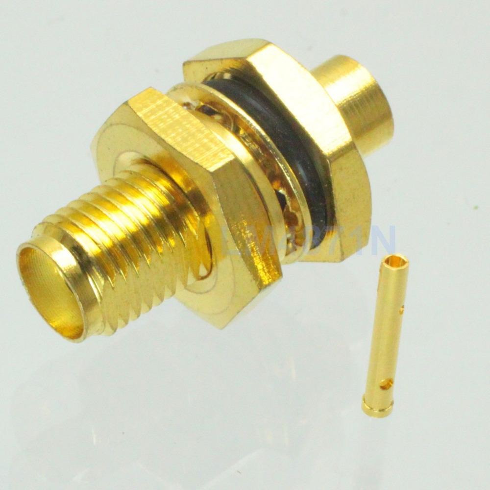 Sma female bulkhead connector