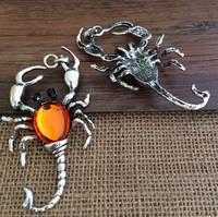 5pcs/Lot   80mmx46mm antique silver  scorpion charm pendant