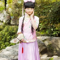 Children's costume clothing Miss loading of the republic of China is locked Phoeny fairy costume Guzheng costumes