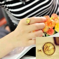 G102 2014 new Korean jewelry wholesale vintage Fashion Vintage Map Adjustable Wholesale Cheap Womens Ring for women