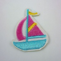 free shipping 50pcs Embroidered Cloth Iron On Patch Sew Motif sailing XI%7
