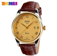 2014 new fashion skmei brand watch golden  women watches women fashion luxury watch