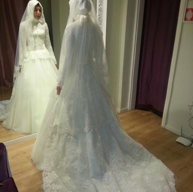... robe de mariée avec Hijab de Corée robe de mariée fiable
