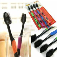 PromotionBamboo Charcoal Toothbrush Odontologia 2014 Wholesale Free Shipping 4pcs/lot Bamboo Toothbrush of Dental Care for Soft