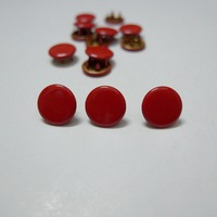 50 Sets 10mm Solid Color #17 RED Prym Prong Snap Buttons Oeko-Tex 100 Certificate Approve