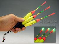 3 pieces 15g #4.0 float + 10Pcs Glow stick Vertical Glow Fishing Floats Lighting Floats Night fishing