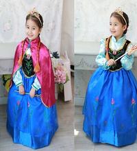Замороженные ну вечеринку костюм принцессы дети анна костюм платье фантазии замороженные детский костюм девушки дети эльза платье