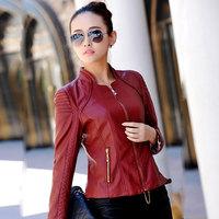 Slim fashion OL jacket 2014 new women coat short women leather jacket motorcycle outerwear coats spring and autumn coat women