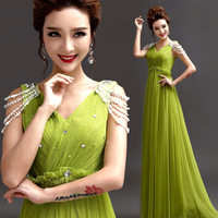 2014 BEST THE ANGEL formal dress new arrival Autumn princess emerald color long evening Dresses predetermined 20 days A272#