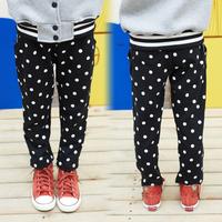 Free shipping 2014 autumn polka dot girls clothing child casual pants sports pants long trousers kz-4177
