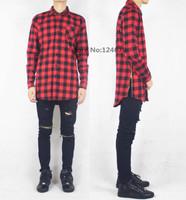 unique zipper flannel shirt men oversized plaid tyga black men clothing styles hip hop skateboard hba  streetwear been trill