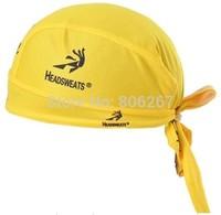 Cycling Cap Le tour de france Yellow Bandanas Pirate Cool Sweat Hat Bike Cycling Ride Sports Bandana Wear Headgear Sportswear