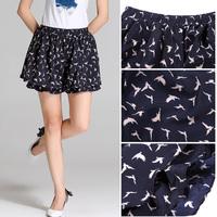 Plus size clothing summer mm 2014 half-skirt skirt chiffon skorts short skirt