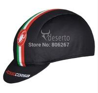 Black Castelli Team Cycling Cap Le Tour De France Clothing Hood Bike Riding Sportsweart Headgear Windguard hat cool Sportswear