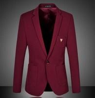 2014 autumn new men's formal blazer wine red and navy blue suit jacket plus size 4XL 5XL 6XL