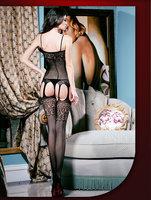 Sex Fashion Underwear Women Female Transparent Hollow Silk Stockings Fishnet Tights Open Crotch Bodysuit Stalls