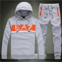 FREE SHIPPING 2014 Men's fashion collar sport suit Cardigan fleece pants suit  Hoodies & Sweatshirts